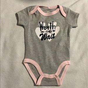 Baby girl 6 months onesie